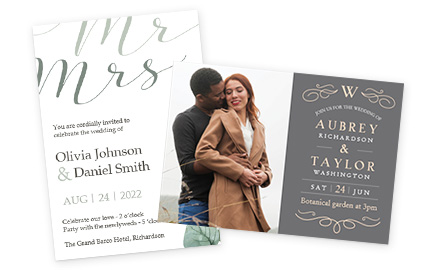 Wedding Invitations & Save the Date Cards  Costco Photo Center