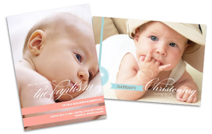 Baptism & Christening Announcements