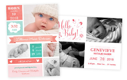 Baby Cards Premium Shower Announcement Cards – Cheap Photo Birth Announcements