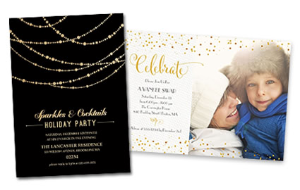 holiday party invitations - Wedding Invitations Costco