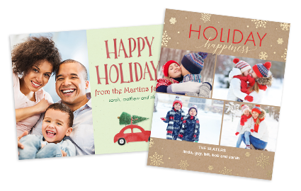 happy holidays - Costco Christmas Photo Cards